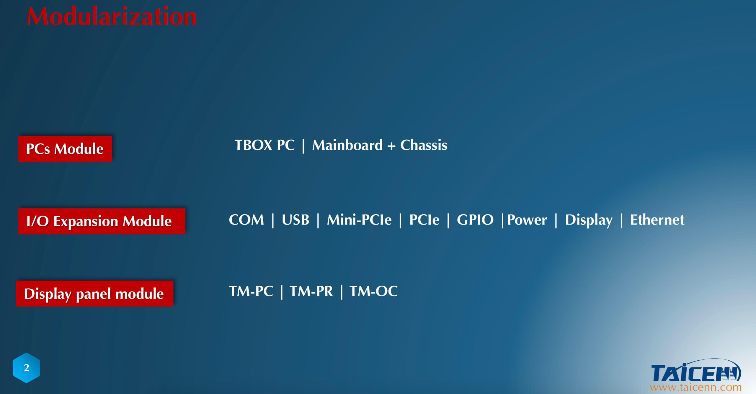 Vier Merkmale des TAICENN-Modularkonzepts 4.0